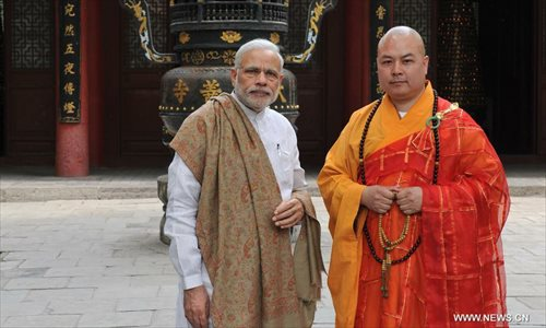 Modi visits Daxingshan Temple in China's Xi'an