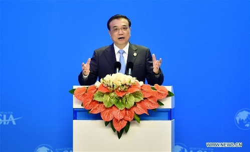 Premier Li delivers speech at opening ceremony of Boao Forum for Asia