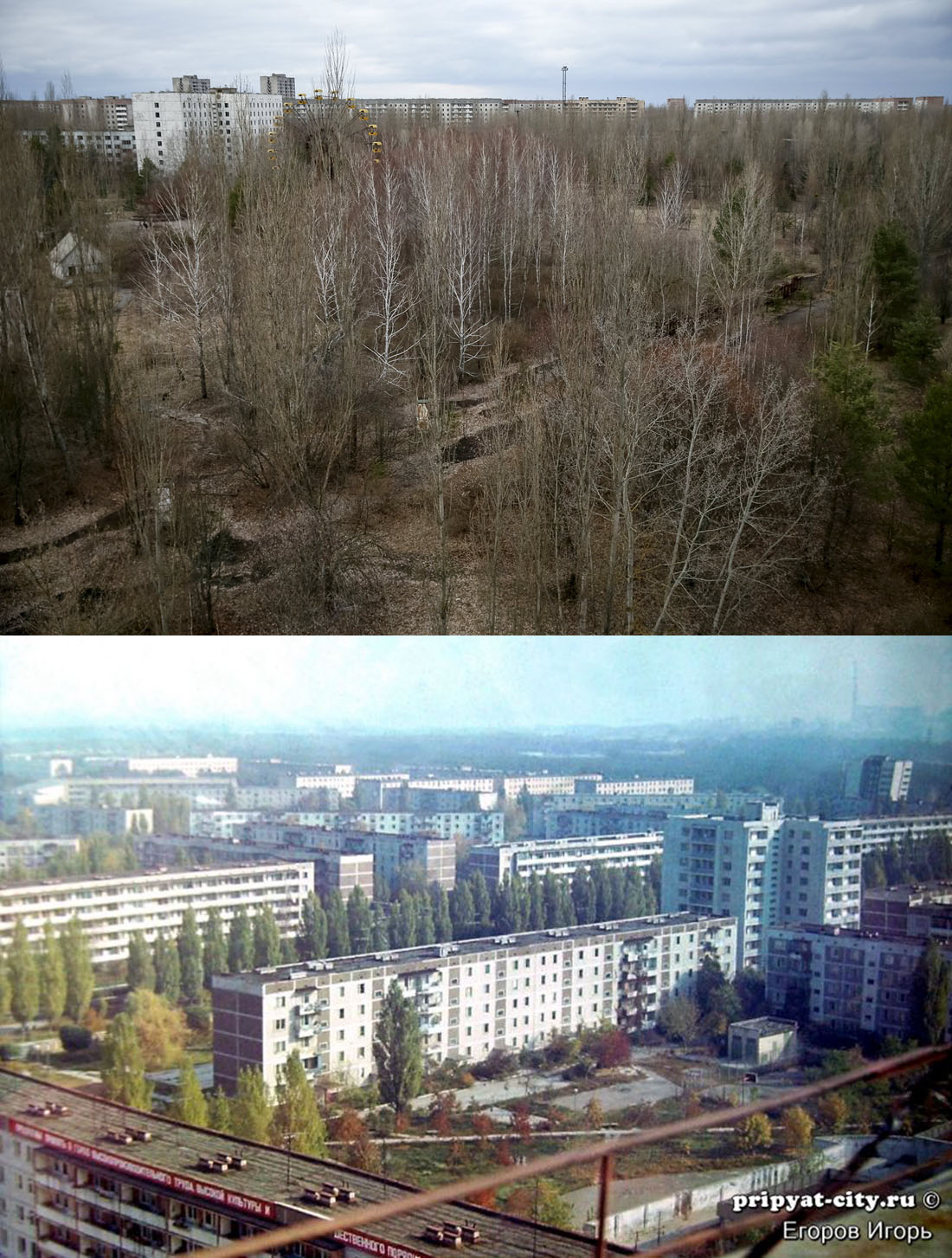 Chernobyl then and now: still abandoned after 30 years