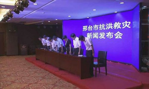 City mayor apologizes after storms causing huge casualties in Hebei