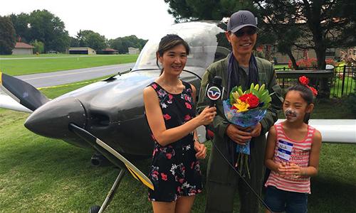 David Hu's self-made airplane