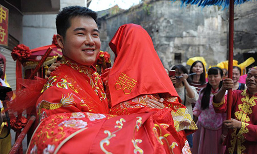 Wedding Ceremony Traditional.Traditional Chinese Wedding Ceremony In C China Global Times