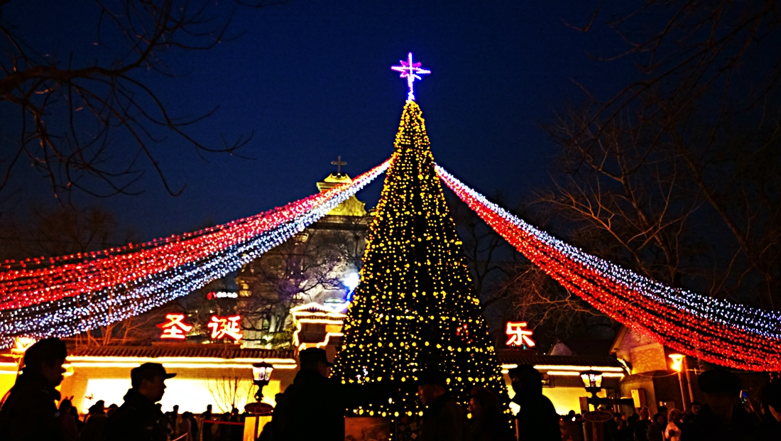 Christmas In China.Churches In China Brighten Up Christmas With Light Displays