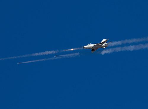 J-7 fighter jet fires rockets - Global Times