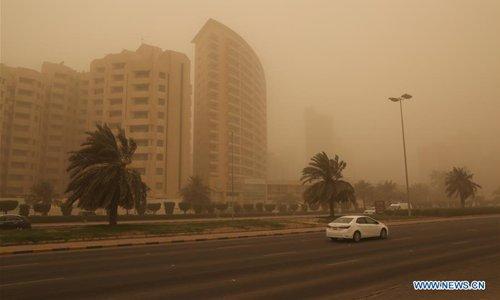 Heavy sand storm engulfs Kuwait City - Global Times