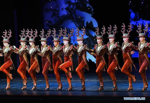 Rockettes Christmas Show.The Rockettes Perform During 2018 Production Of Christmas