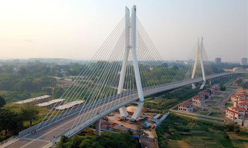 File photo taken on June 10, 2018 shows a bridge built with Chinese assistance in Brazzaville, capital of the Republic of Congo. In past years, China and African nations have deepened mutual assistance in development and made concerted efforts in building a closer China-Africa community with a shared future. (Xinhua/Wang Teng)