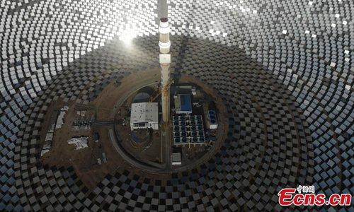 China S First 100 Megawatt Molten Salt Solar Plant Global Times