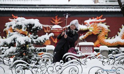Snow scenery in Nanjing, east China's Jiangsu