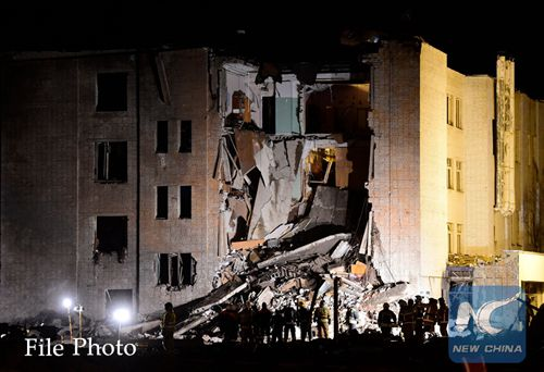 No people trapped in collapsed building in Russia's St. Petersburg -- emergencies ministry