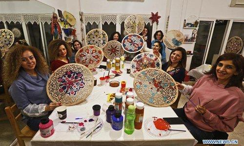Wood Mandala Coloring Event Held In Beirut Lebanon Global Times