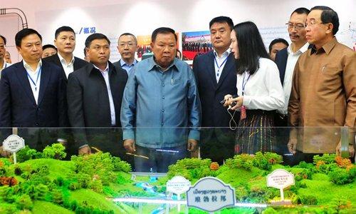 Lao president hails China-Laos Railway construction