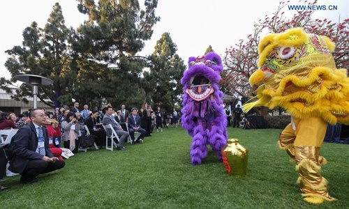 Lion dance performed during 12th National Chinese Language Conference in San Diego