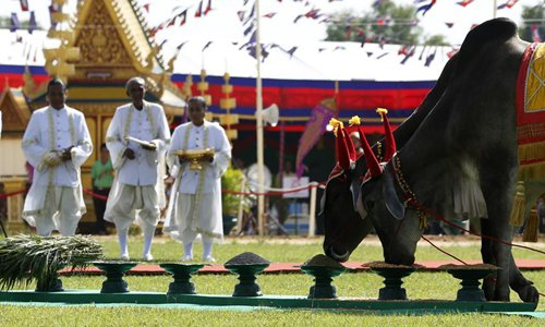 Cambodia celebrates traditional royal ploughing ceremony in Takeo - Global Times