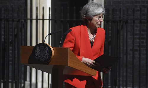 Theresa May says to resign on June 7 - Global Times