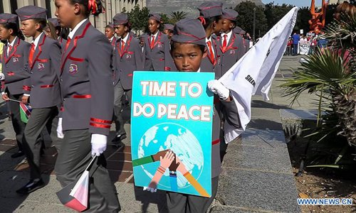 Thousands of South Africans take part in peace walk in Cape Town - Global Times