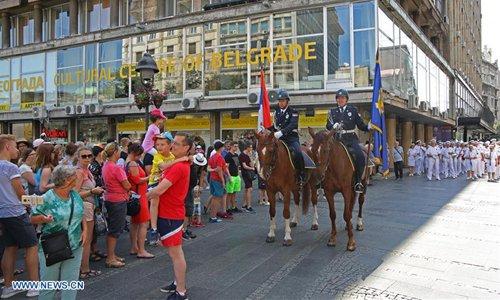 Police Day celebrated in Belgrade, Serbia - Global Times