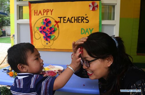 teachers day celebrated in kathmandu global times