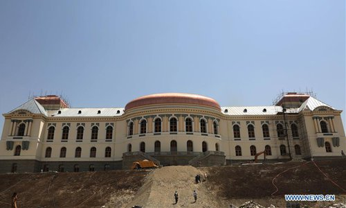 Afghan former king's reconstructed palace beautifies Kabul