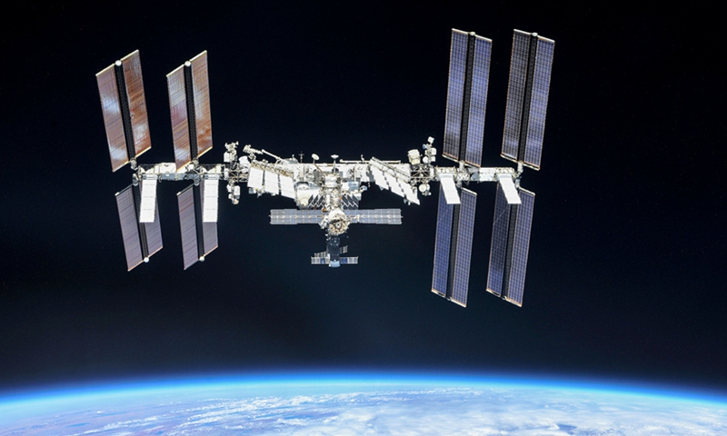 A file photo of the International Space Station.
