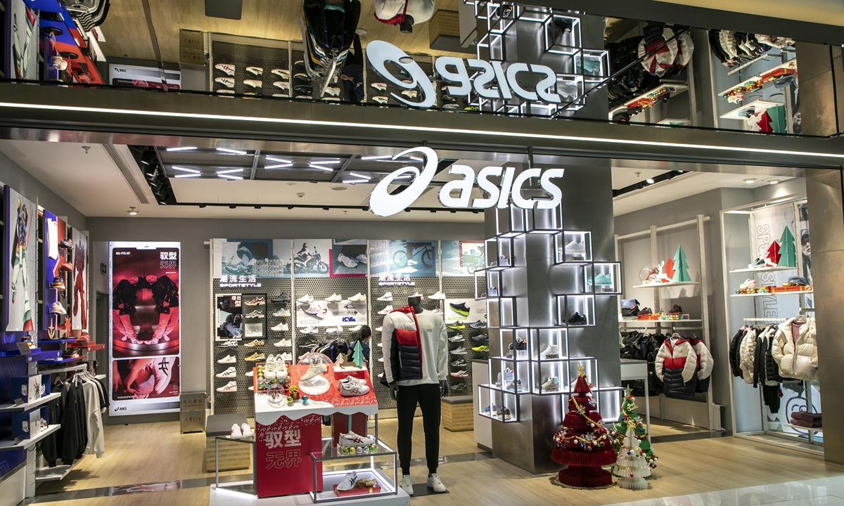 An ASICS store in Shanghai Photo: VCG