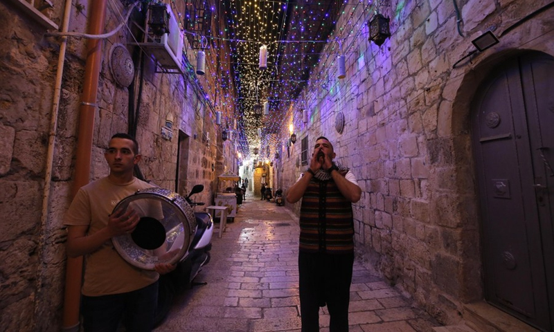 A musharaty is seen in Jerusalem's Old City on April 19, 2021.(Photo: Xinhua)