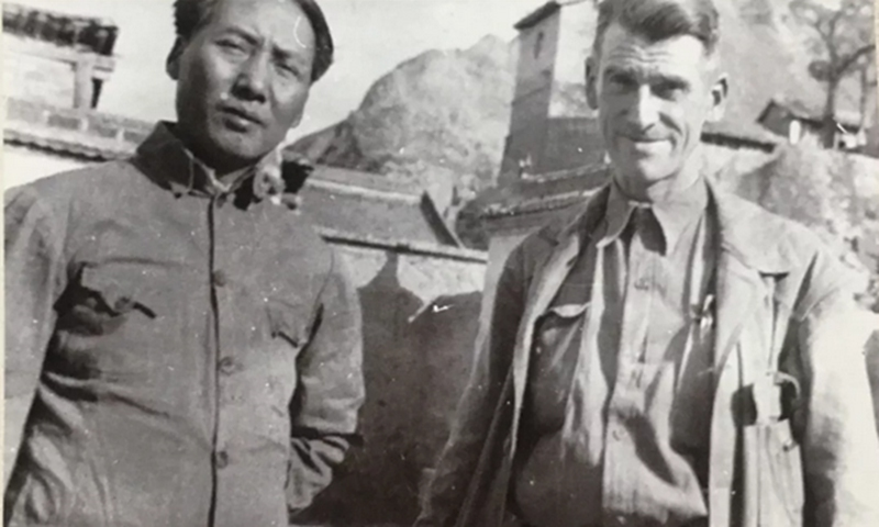 Mao Zedong and Evans Fordyce Carlson