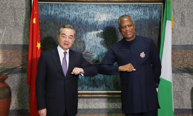 On January 5, 2021, State Councilor and Foreign Minister Wang Yi paying an official visit to Nigeria and holding talks with Foreign Minister Geoffrey Onyeama.