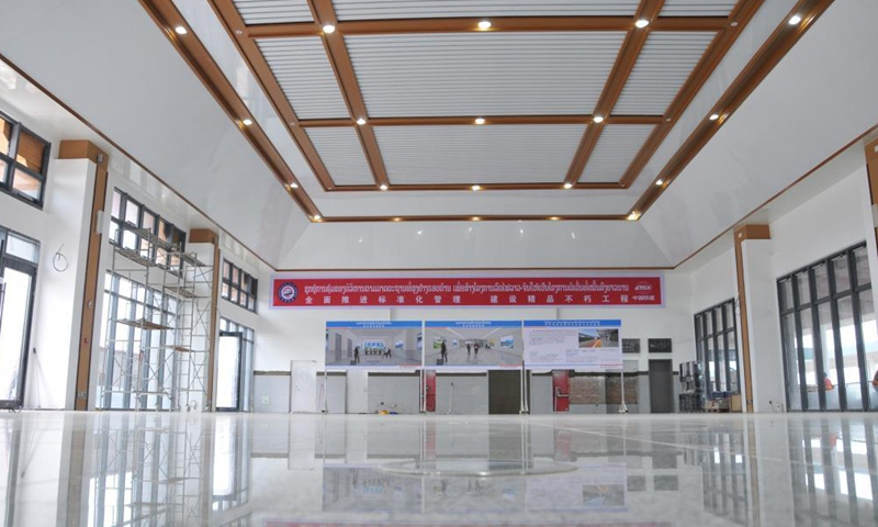 The Phonhong railway station is pictured in Phonhong, some 70 km north of Lao capital Vientiane, July 23, 2021. Photo:Xinhua