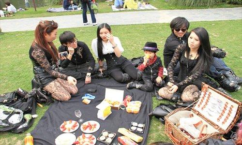 Goth fans gather for a Victorian picnic in Shanghai. Photo: Courtesy of Nikita Ryazantsev