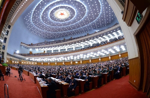 The first session of the 12th National People's Congress (NPC) opens at the Great Hall of the People in Beijing, capital of China, March 5, 2013. (Xinhua/Liu Jiansheng)
