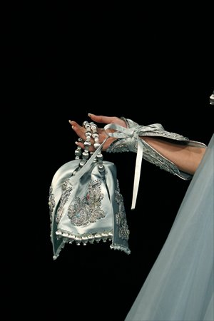 A dazzling silk and pearl handbag from Rose Studio Photos: IC