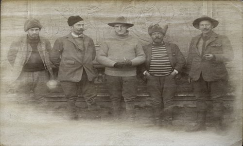 Robert Sterling Clark (second from right) and his fellows during the expedition in China