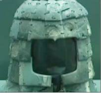 A video grab from CCTV shows a military helmet discovered from site K9801