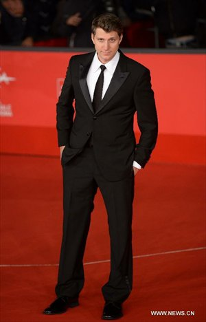 US director Jeff Nichols, president of the international jury, poses on the red carpet of the 7th Rome Film Festival in Rome, Italy, Nov. 9, 2012. The 7th Rome Film Festival opened here late Friday. Photo: Xinhua