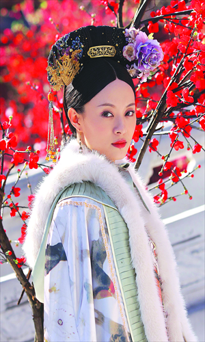 Leading actresses Sun Li in Legend of Zhen Huan. Photo: CFP