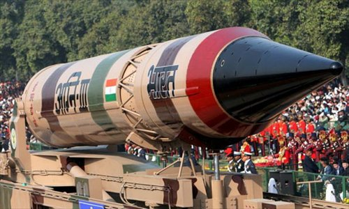 Agni- III Photo: Xinhua