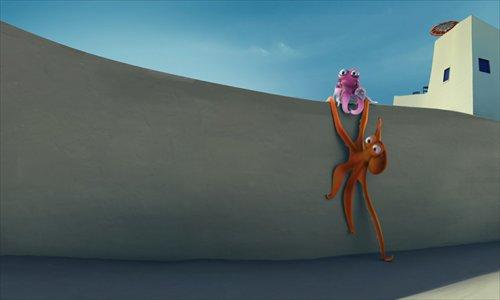 A scene from the animation Oktapodi Photos: Courtesy of Liuli China Museum
