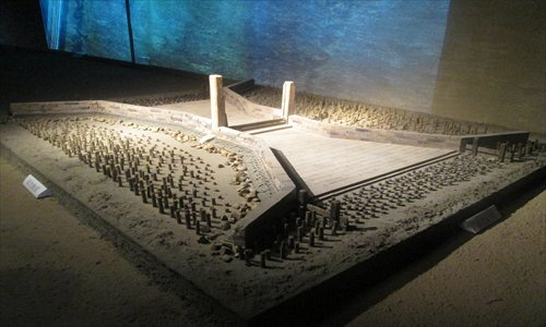 A model of the water gate