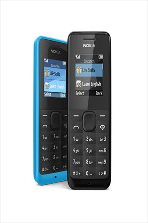 The Nokia 105, soon to be available on the market Photo: Courtesy of Nokia