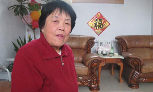 Mo's aunt Guan Yilan, 75, was the inspiration of the lead character in his novel Wa. Photo: Xu Ming/ Global Times