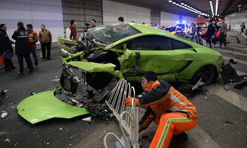 Drivers Of Two Sports Cars In Accident Not Drunk Global Times