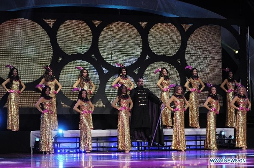 Contestants participate in the beauty pageant