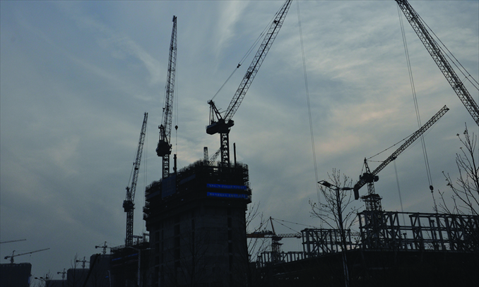 The Nanjing Youth Olympic Games Conference Center is under construction on March 31. Photo: Liu Linlin/GT