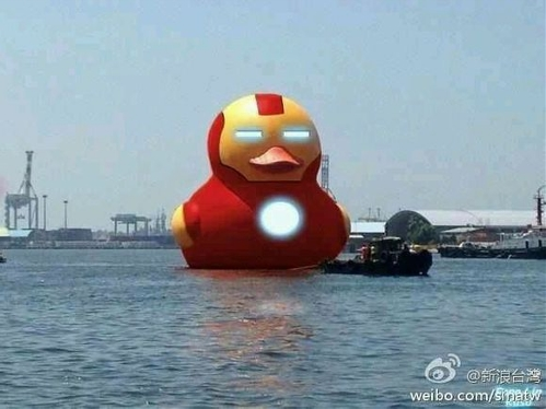 Look like Iron Man Duck (Photo Source: Global Times)