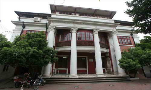 Bai's Mansion is among a variety of international architectural styles on Duolun Road. Photo: Cai Xianmin/GT