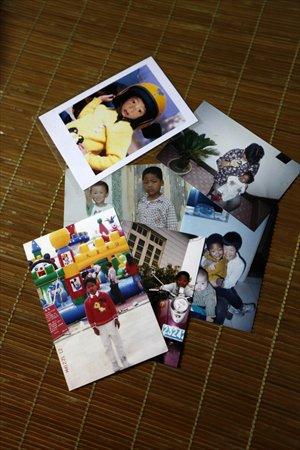 Photos of Zhu Junlong, nicknamed Baobao, growing up