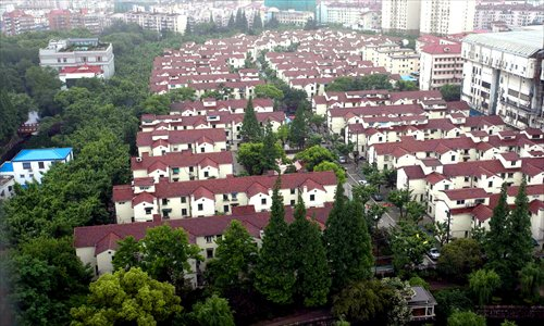 The first phase of Caoyang New Village, one of the first socialist workers' villages in China, was completed in May 1952. Photo: Yang Hui/GT