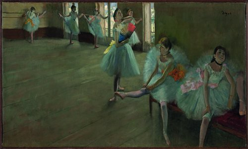 Dancers in the Classroom by Edgar Degas. Photos: Courtesy of Shanghai Museum
