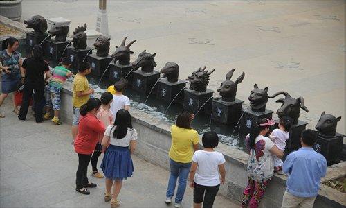 Chinese Bronze Zodiac Heads